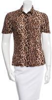 Dolce & Gabbana Short Sleeve Leopard Print Top