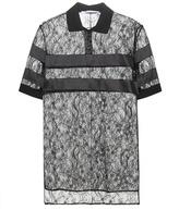 Givenchy Embellished Lace Polo Shirt