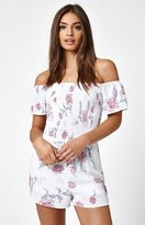 La Hearts Lace-Up Smocked Romper