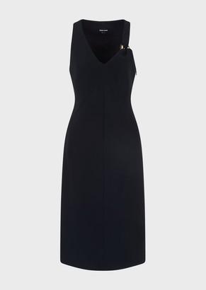 Giorgio Armani Dress With Back Cuts And Tortoiseshell Eyelet