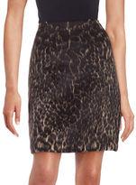 Kobi Halperin Leopard Print Mini Skirt