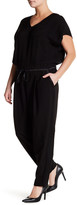 Lafayette 148 New York Columbia Silk Trim Jumpsuit (Plus Size)