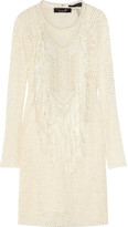 Mana fringed stretch-lace dress