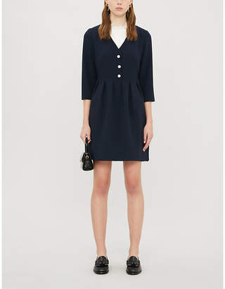 Claudie Pierlot Rafiah scalloped crepe mini dress