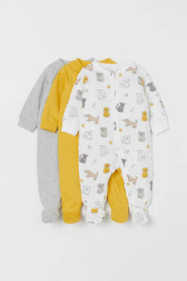 H&M 3-pack Jumpsuits - Yellow