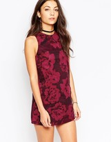 Motel Camille Dress In Tonal Floral Print