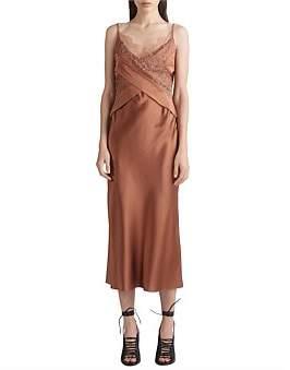 Dion Lee Silk Satin Lace Slip Dress