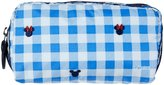 Le Sport Sac Checks and Bows Rectangular Pencil Case (Toddler/Kids) - White/Blue - One Size