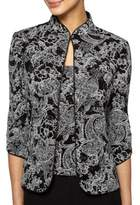 Alex Evenings Plus Printed Jacket and Camisole Set