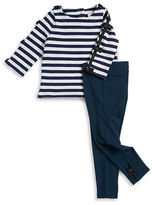 Kate Spade Baby Girls Striped Top and Leggings Set