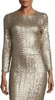 Alice + Olivia Women's Lebell Sequin Cropped Top