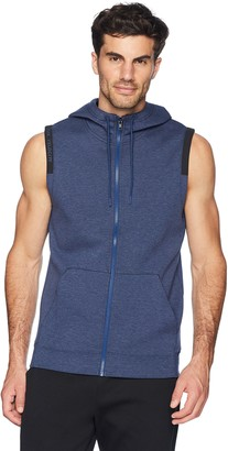 Peak Velocity Amazon Brand Men's Metro Fleece Full-Zip Sleeveless Athletic-Fit Hoodie