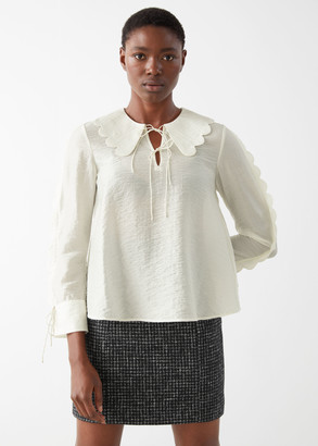 And other stories Wide Scallop Blouse