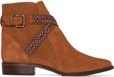 Schutz Embroidered suede ankle boots