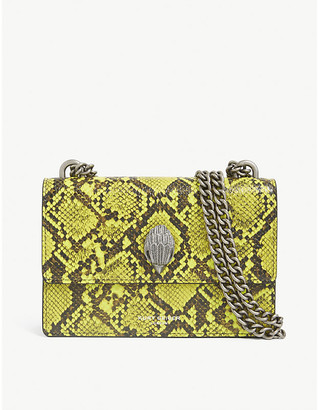 Kurt Geiger Shoreditch snakeskin-embossed leather cross-body bag