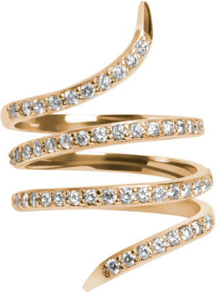 AUrate New York Diamond Snake Ring with White Diamonds