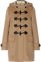 Burberry Hooded Wool-felt Duffle Coat - Camel