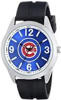 Game Time Men's MLB-VAR-CHI Varsity Analog Display Japanese Quartz Black Watch