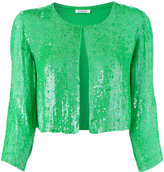 P.A.R.O.S.H. sequinned cropped jacket - women - Viscose/PVC - XS