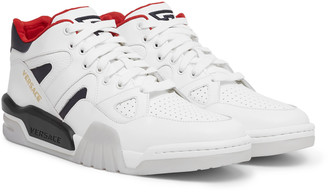 Versace Panelled Leather Sneakers
