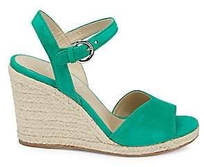 Prada Women's Suede Espadrille Wedge Sandals