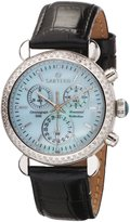 Sartego Women's SDBP189B Diamond Fashion Round Shape Chronograph