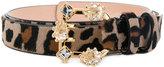 DSQUARED2 leopard print belt - women - Leather/Calf Hair - 75