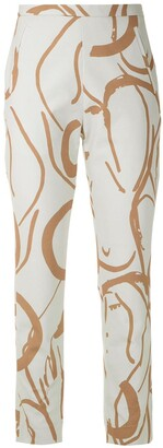 Andrea Marques Printed Slim Fit Trousers