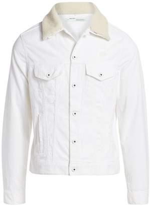 Off-White Off White Corduroy Shearling Jacket