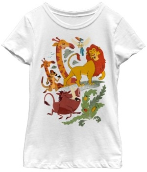 Fifth Sun Disney Lion King Big Girls Friends Animated Portrait Short Sleeve T-Shirt