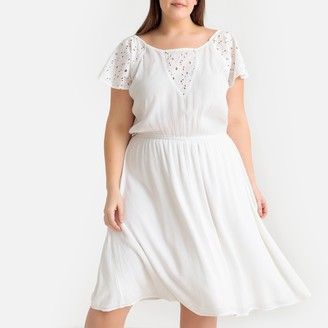 Castaluna Plus Size Guipure Lace Plisse Dress