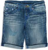 True Religion Boys' Geno Faded Cuffed Shorts
