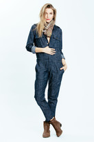 Karen Zambos Denim Spencer Jumpsuit
