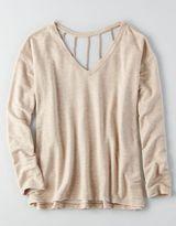 American Eagle AEO Soft & Sexy Braided Strappy Sweatshirt