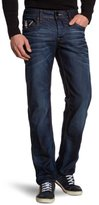 G Star Men's Attacc Low Rise Straight Leg Jean in Dark Aged Blue