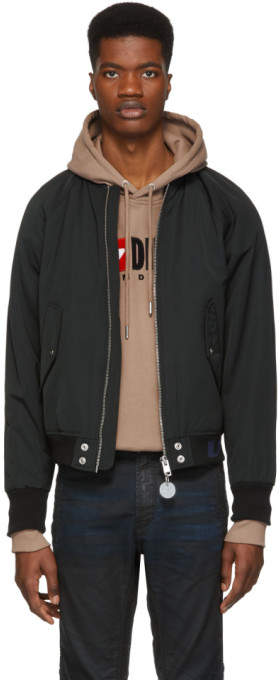 Diesel Black J-Shoji Bomber Jacket