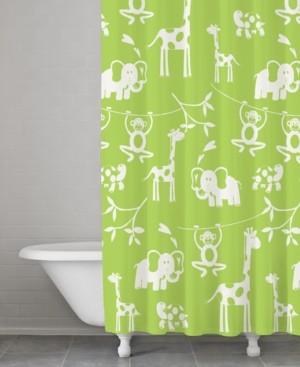 Cassadecor 100% Cotton Zoo Shower Curtain Bedding