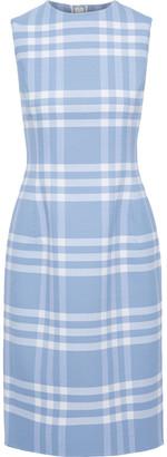 Oscar de la Renta Checked Wool-blend Twill Dress
