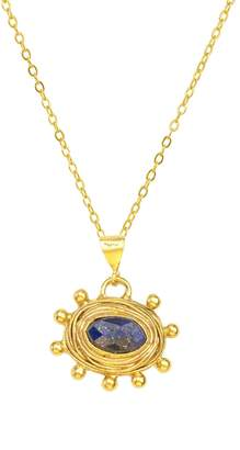 Lapis Zand Stone Necklace With Granulation