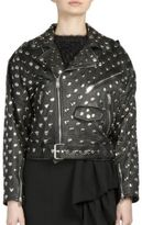 Saint Laurent Heart Studs Leather Blouson Moto Jacket