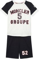 Moncler Logo cotton T-shirt and shorts set 4-14 years