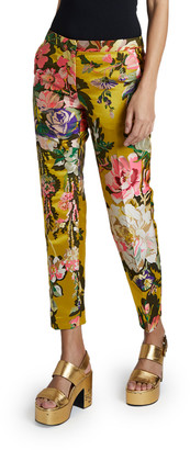 Dries Van Noten Poumas Flower Brocade Pants