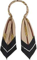 Balenciaga Vintage scarf hoop necklace