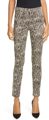 Veronica Beard Kate Snake Print Skinny Jeans