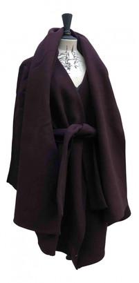 Anne Valerie Hash Burgundy Wool Coats