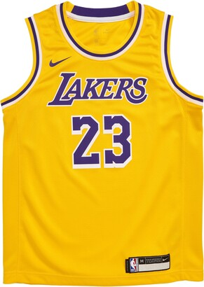 Nike NBA Los Angeles Lakers LeBron James Basketball Jersey