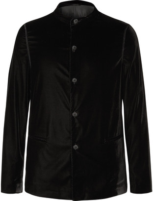 Giorgio Armani Navy Slim-Fit Velvet Tuxedo Jacket
