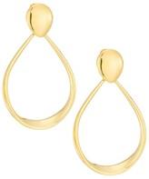 Milani Alberto Millennia 18K Yellow Gold Oval Door Knocker Earrings