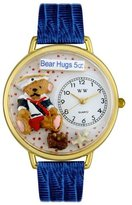 Whimsical Watches Women's G0230002 Teddy Bear Hugs Blue Leather Watch