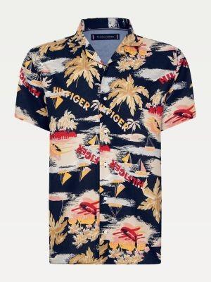 Tommy Hilfiger Tropical Print Short Sleeve Shirt